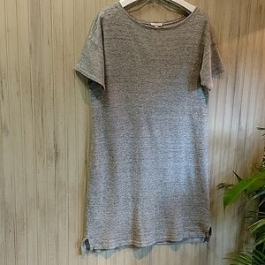 Eileen Fisher Gray Heather Dress, hi-low, NWOT